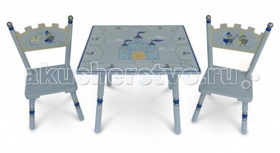 Комплект из стола и двух стульев Рыцари Major-Kids