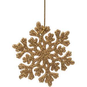 Украшение Fenix-present Снежинка ажурная, золотое Феникс-Презент