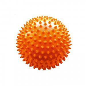 Мяч ёжик оранжевый, 18 см, МалышОК