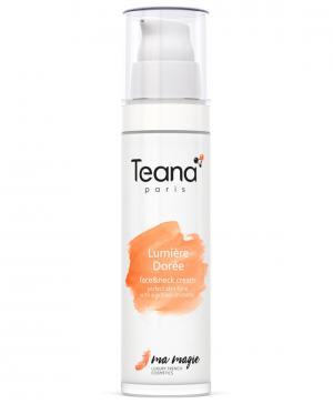 Крем для лица и шеи Идеальный тон с мерцающей пыльцой Lumière Dorée (Сияние золота), 50 мл Teana