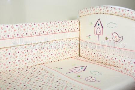 Комплект в кроватку  Домик для птички (6 предметов) Lappetti