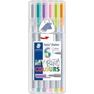 Набор капиллярных ручек  «Triplus Fineliner», 6 пастельных цветов Staedtler