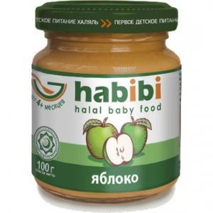 Пюре  Халяль яблоко с 4 месяцев, 100 г Habibi