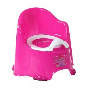Горшок  Комфорт, цвет: розовый/малиновый Dunya