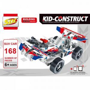 Конструктор  Kid-Construct Кроссовер белый (168 деталей) SDL