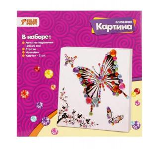 Алмазная мозаика  картина Бабочка (20*20 см) Color Puppy