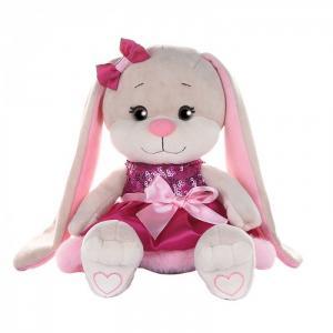 Мягкая игрушка  Зайка в платьице с пайетками и мехом 20 см Jack&Lin