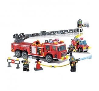 Конструктор  Пожарная машина с фигурками и аксессуарами (607 деталей) Enlighten Brick