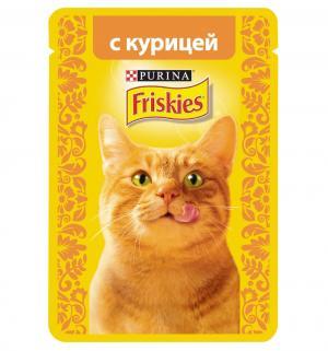 Влажный корм  для взрослых кошек, курица, 85г Friskies