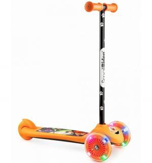 Самокат  Cosmic Zoo Scooter Flash, цвет: оранжевый Small Rider