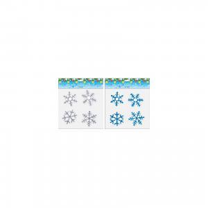 Витражные наклейки 4 снежинки, в ассортименте TUKZAR