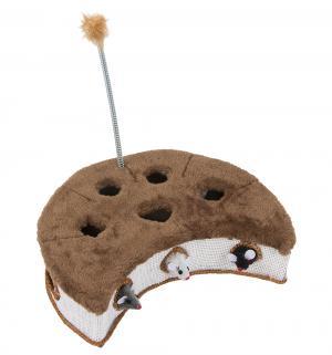 Когтеточка-коробка  с выпрыгивающими мышками и пером, цвет: коричневый, 32*18см I.P.T.S.