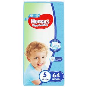 Подгузники  Ultra Comfort 5 для мальчиков (12-22 кг) 64 шт. Huggies