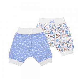 Комплект шорты 2 шт  Лавандовый пряник, цвет: белый/сиреневый Lucky Child