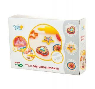 Набор теста для лепки  Магазин печенья 100 г 6 шт. Genio Kids