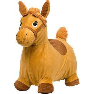 Лошадка-попрыгунчик , бежевая Shantou Gepai. Цвет: бежевый