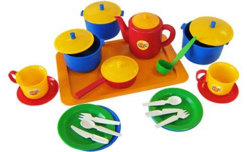 Набор посуды хозяюшка большой Пластмастер