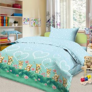 Детское постельное белье 3 предмета , BG-89 Letto. Цвет: синий