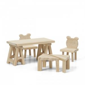 Набор деревянной мебели для домика Сделай сам Стол и стулья Lundby