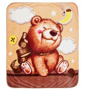 Плед  90 х см, цвет: бежевый Три медведя