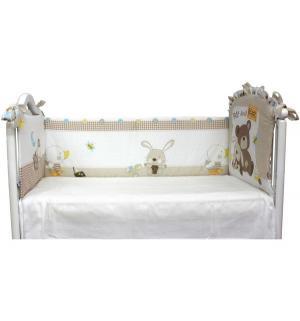 Бортик в кроватку  Мишка с зайкой, Bombus