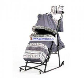 Санки-коляска  Luxe Premium Soft Plus Kristy