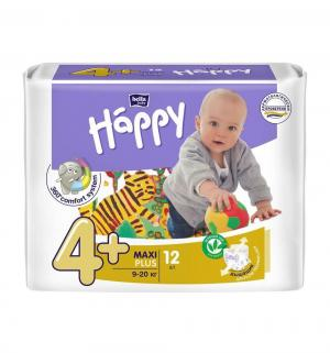 Подгузники  Maxi Plus 4+ (9-20 кг) 12 шт. Bella Baby Happy