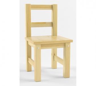 Русские-Игрушки Детский деревянный стул не окрашен Русские игрушки