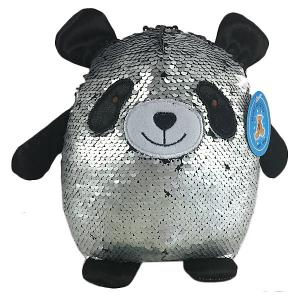Мягкая игрушка  Панда с пайетками, 20 см ABtoys. Цвет: schwarz/silber
