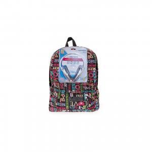 Рюкзак Хиппи с наушниками, цвет мульти 3D Bags