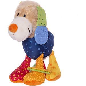 Развивающая мягконабивная игрушка  Активный Малыш Собачка PlayQ Sigikid
