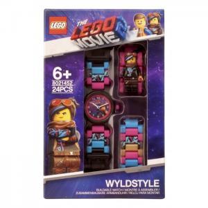 Часы  наручные аналоговые Movie 2 с минифигурой Wyldstyle на ремешке Lego