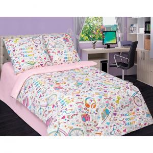 Комплект постельного белья  Модные штучки, цвет: розовый 4 предмета Артпостель
