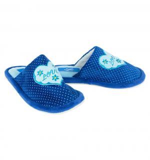Тапочки , цвет: синий Effa