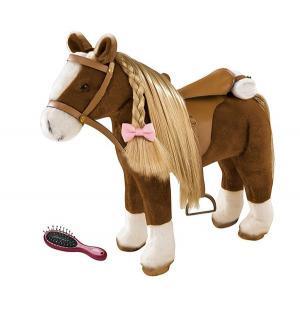 Лошадка  коричневая с расческой 50 см Gotz
