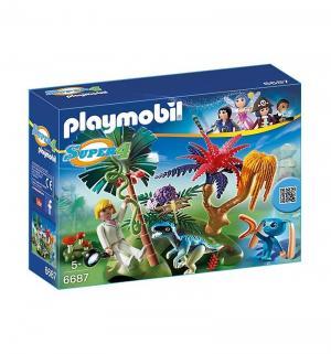 Конструктор  Супер 4 Затерянный остров с Алиен и Хищником Playmobil