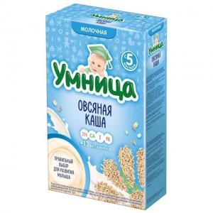 Каша  молочная Овсяная с 5 месяцев 200 г Умница