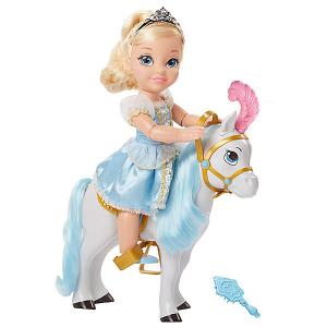 Кукла Принцессы Дисней Принцесса с животным из мультфильма: Cinderella Jakks Pacific. Цвет: голубой