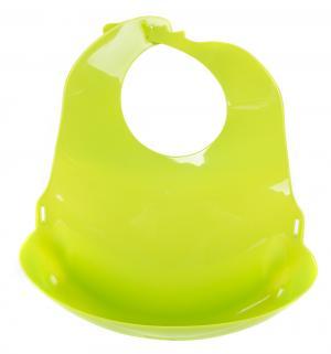 Слюнявчик  с отворотом, цвет: зеленый Lubby