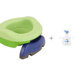 Горшок  дорожный с аксессуарами мылом-пенкой для младенцев Pigeon 500 мл Potette Plus