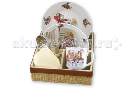 Набор детской посуды с подставкой Алиса в стране чудес 6 предметов Reutter Porzellan