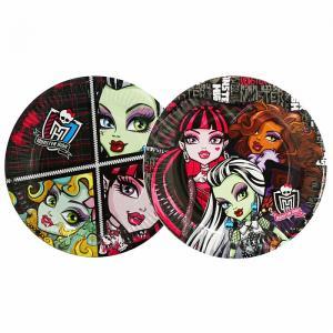 Набор бумажных тарелок  Монстер Хай 18 см Monster High