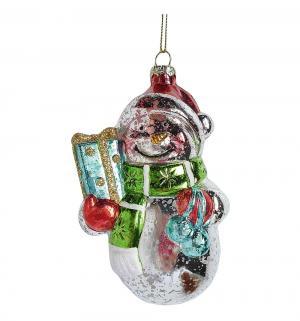Елочное украшение  Снеговик 12 см Новогодняя сказка