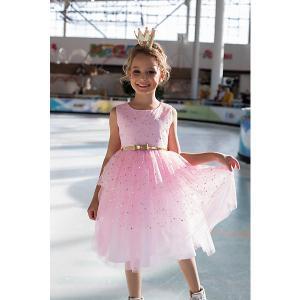 Нарядное платье Unona. Цвет: розовый/белый