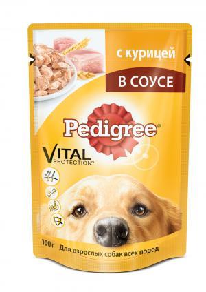 Корм влажный  для взрослых собак, курица, 100г Pedigree