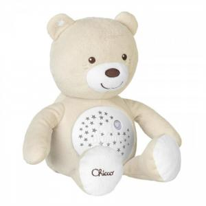 Мягкая игрушка  набивная музыкальная проектор Мишка 8015 Chicco