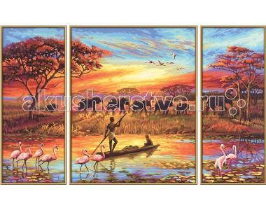 Картина по номерам Триптих Африка 50х80 см Schipper