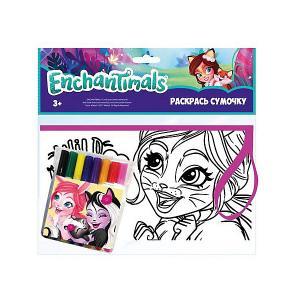 Набор для творчества Centrum Enchantimals Раскрась сумку, Фелисити Фокс. Цвет: разноцветный