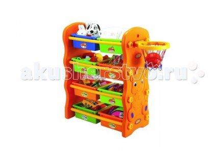 Игровой шкафчик с баскетбольным кольцом Edu-Play