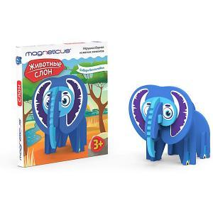 Игрушка сборная  Слон Magneticus. Цвет: темно-синий деним
